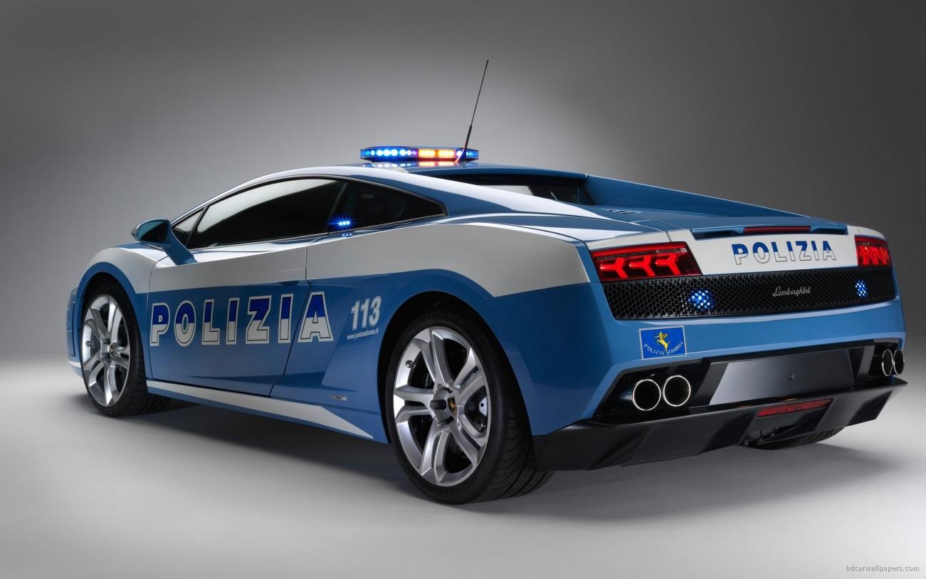 Los carros policia más caros del mundo - Lamborghini Gallardo