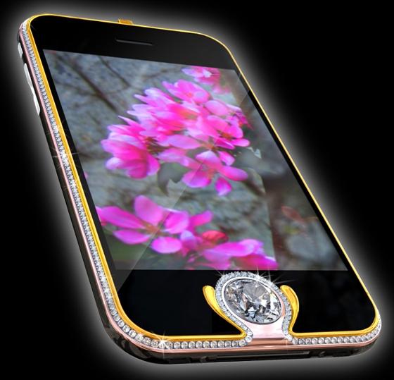 Los teléfonos más costosos del mundo - iPhone 3G Kings Button