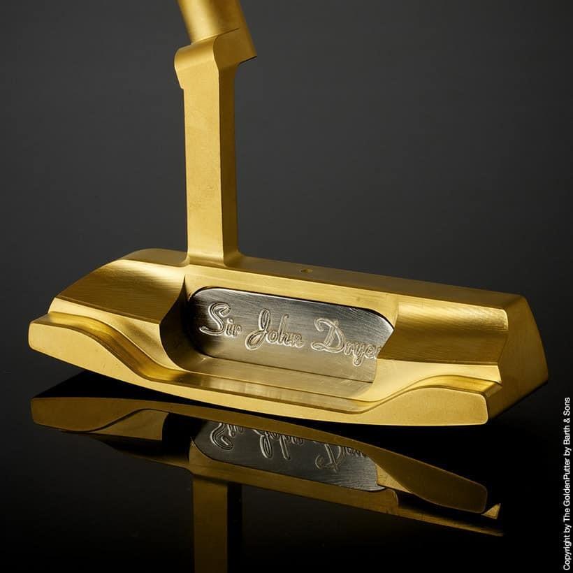Los palos de golf más caros del mundo - Golden Putter Firts Lady Especial Edition